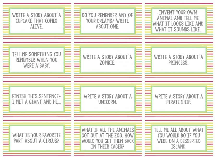 questions for writing assignments