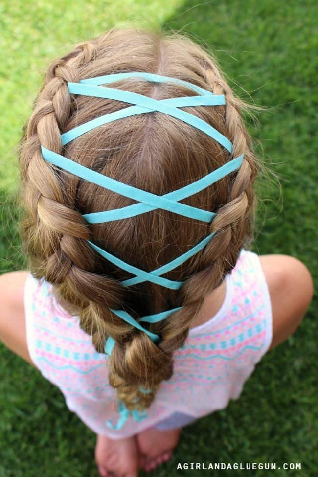 ribbon in hair