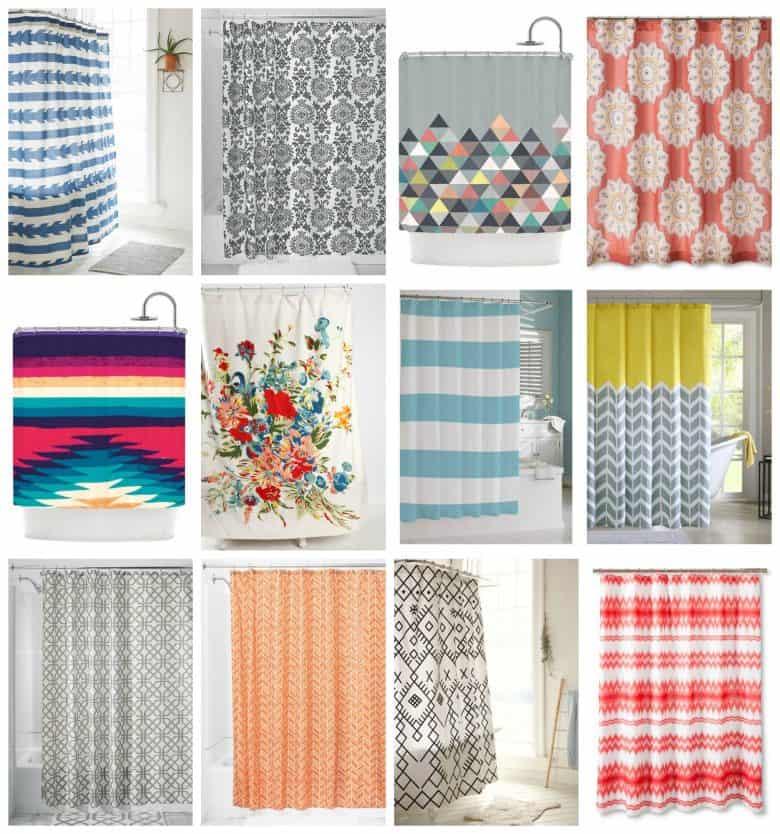 Fun Shower Curtain shower curtain to regular curtains! - a girl and a glue gun