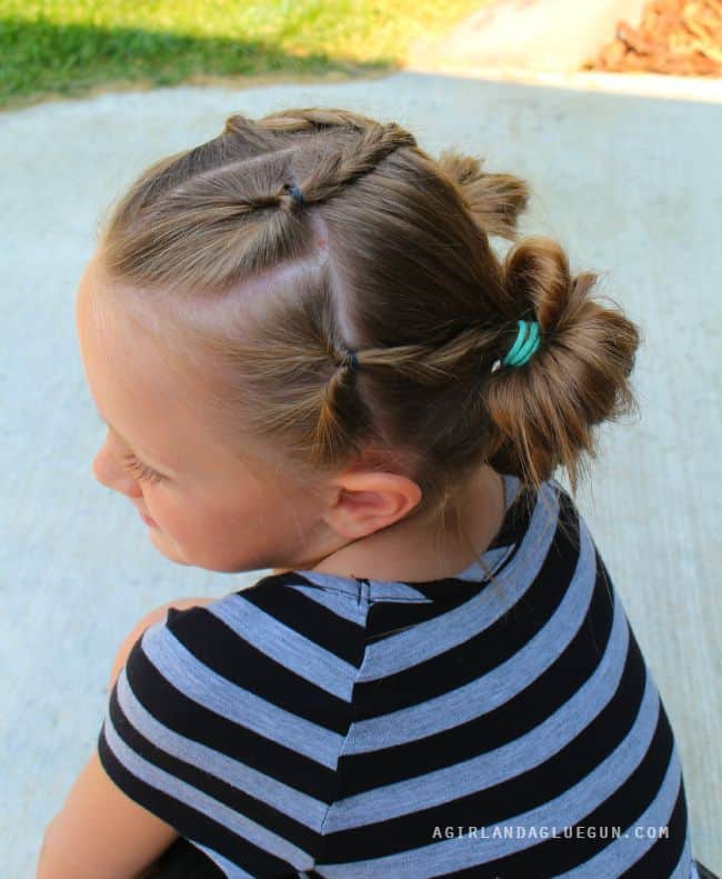 side view of girls hairstyles