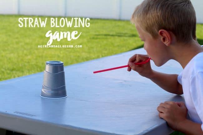 straw blowing game
