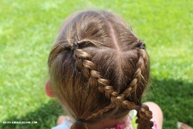 top view of cute little girl hair