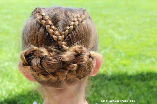 up do for little girl hair