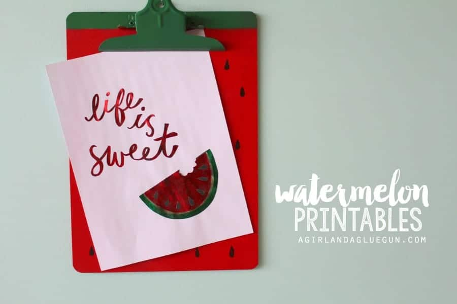 watermelon printables a girl and a glue gun