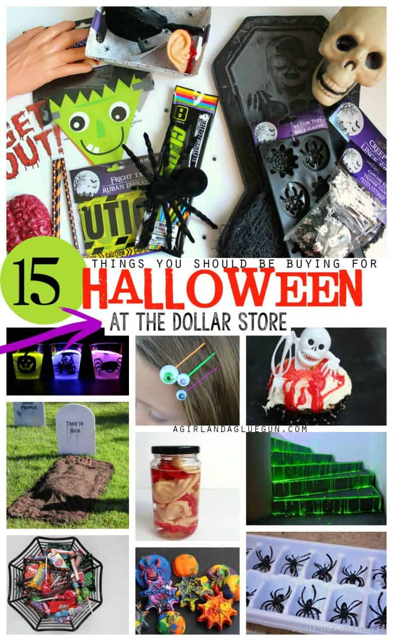 15 AMAZING Halloween things to buy at the dollar store! - A girl and ...