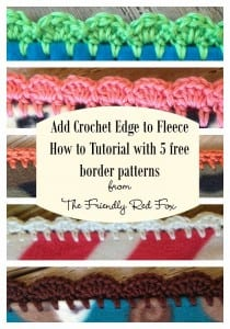 Crochet Edge on Fleece Tutorial