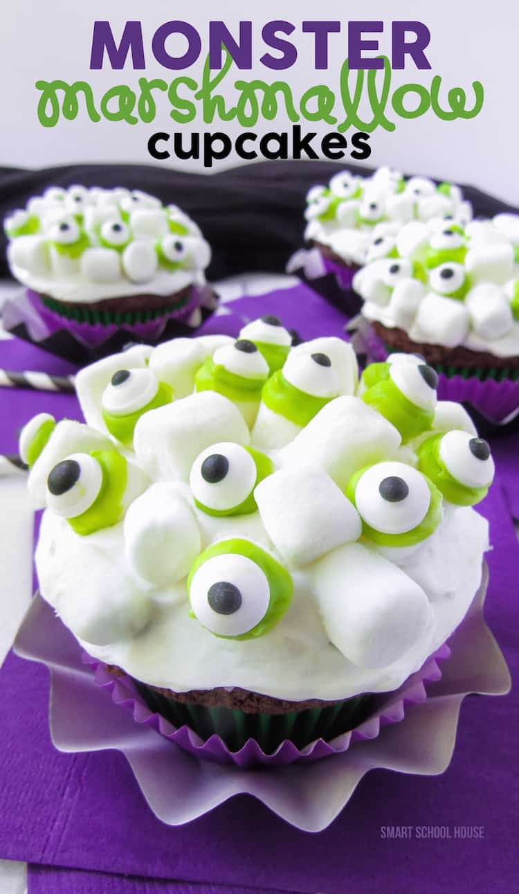 Monster-Marshmallow-Cupcakes