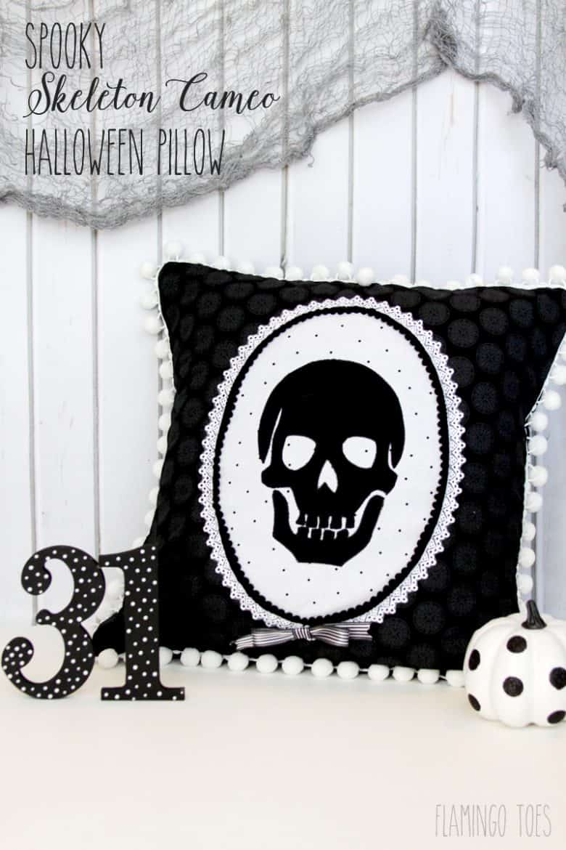 Spooky-Skeleton-Cameo-Halloween-Pillow