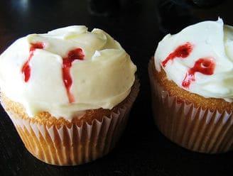 Vampire Fang Cupcake