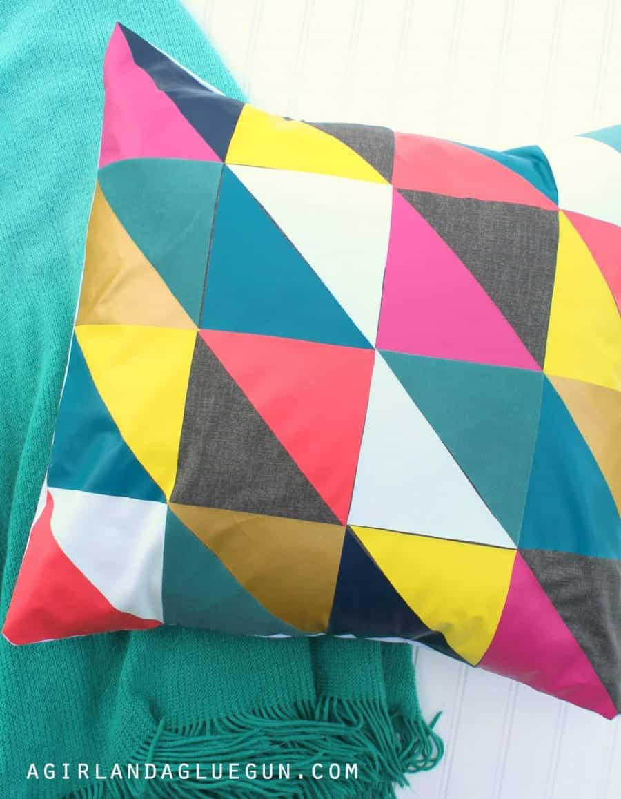 accent pillow with heat transfer vinyl