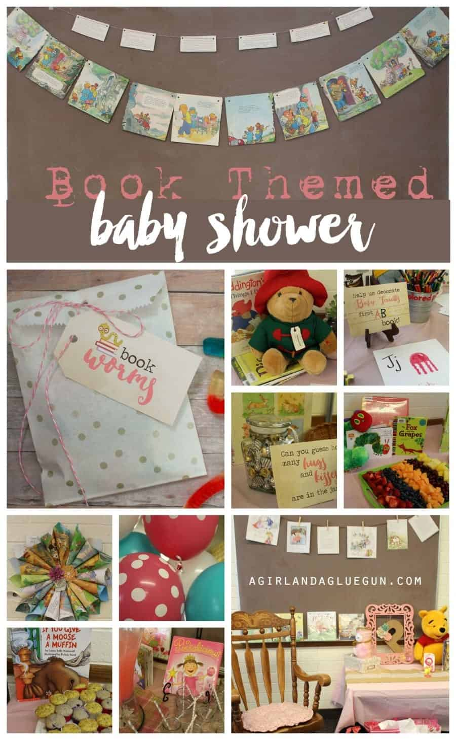 book themed baby shower with free printables