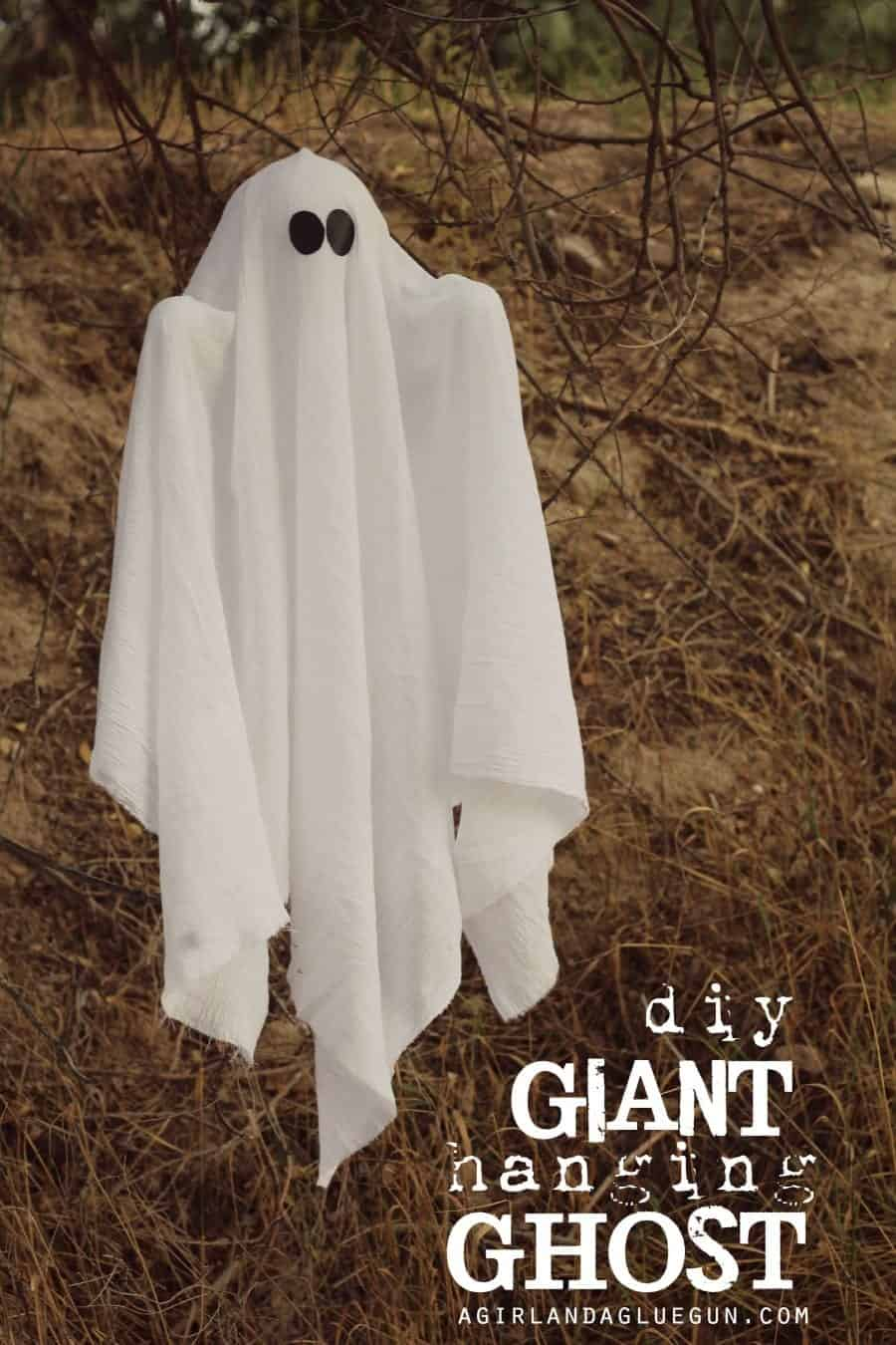diy giant hanging ghost