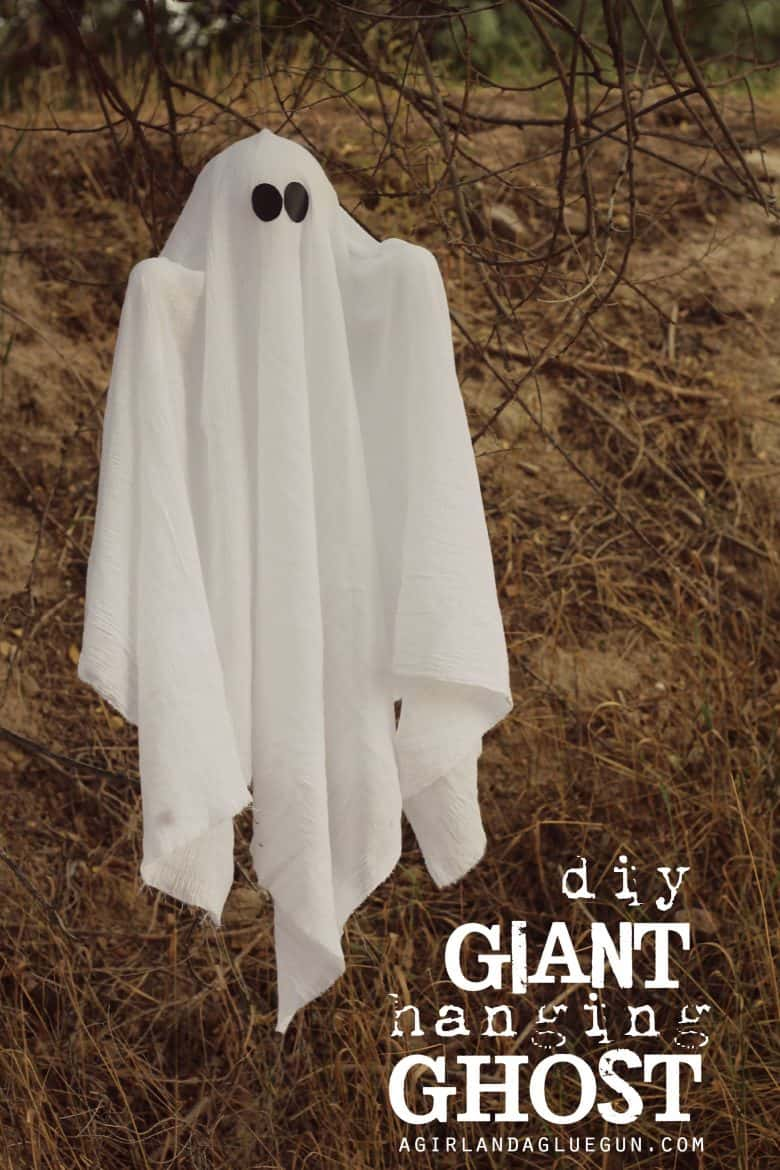 Then i thought a big huge ghost for my front porch would be fun