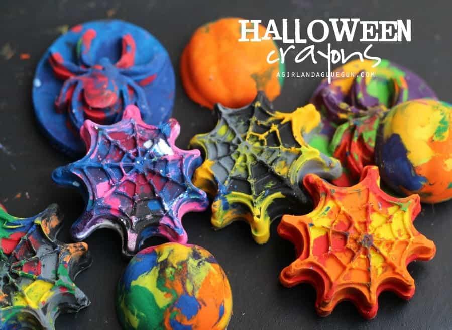 diy your own halloween crayons