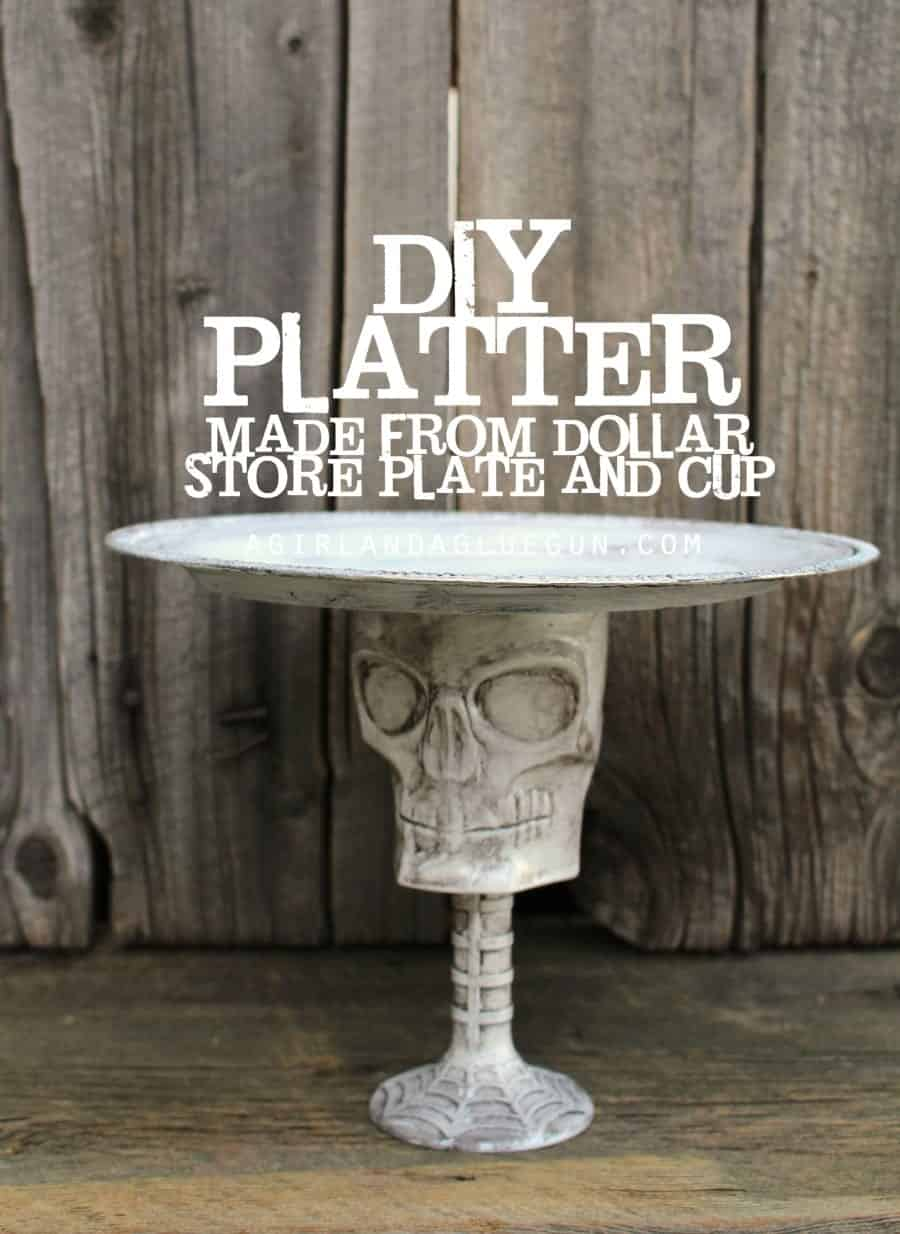 easy fun platter from dollar store supplies
