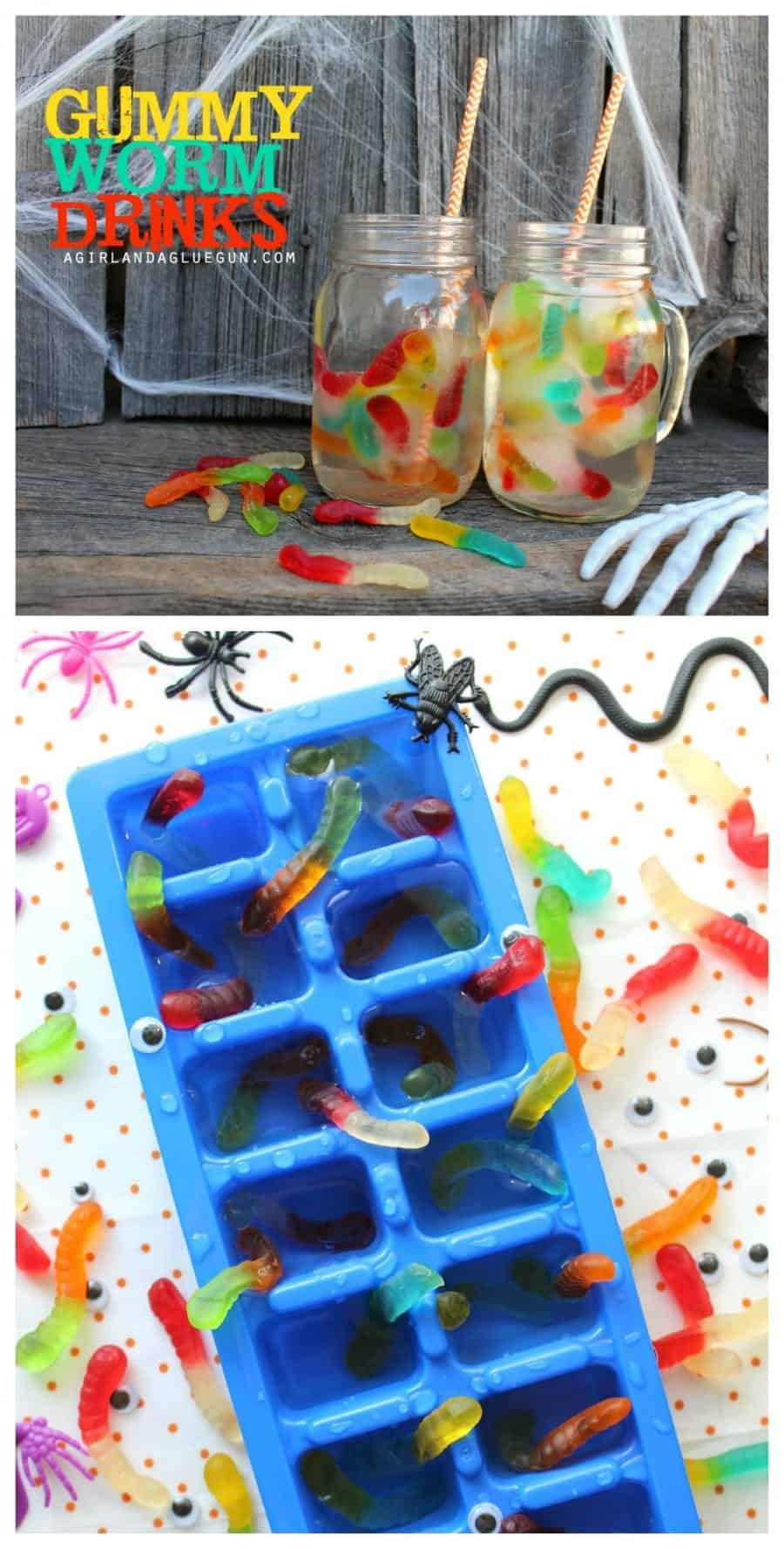 fun Halloween gummy worm drinks easy treat