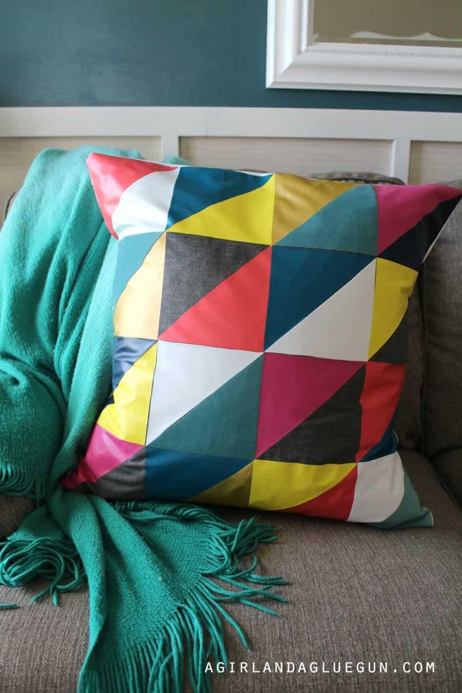 fun diy pillow no sew