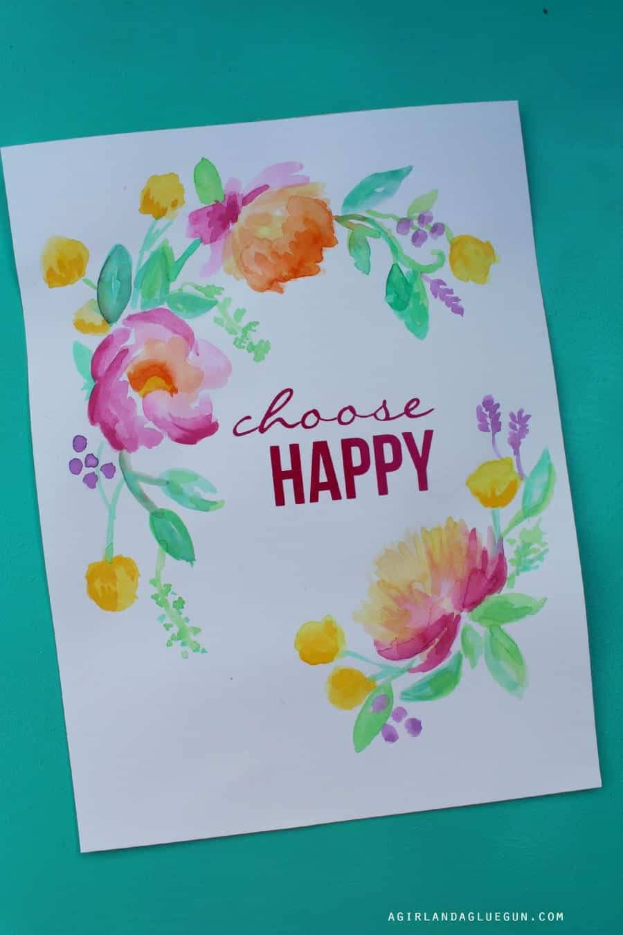 fun watercolor art with expressions vinyl