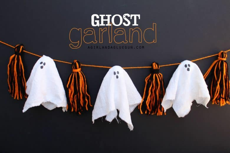 Make it fun crafts-Giant hanging ghost! - A girl and a glue gun