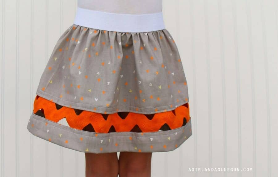 giant ric rac skirt cute
