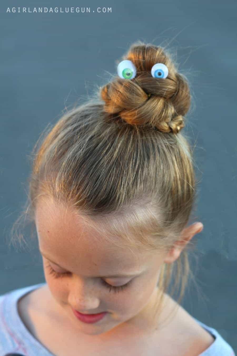 googly eyeball hair do