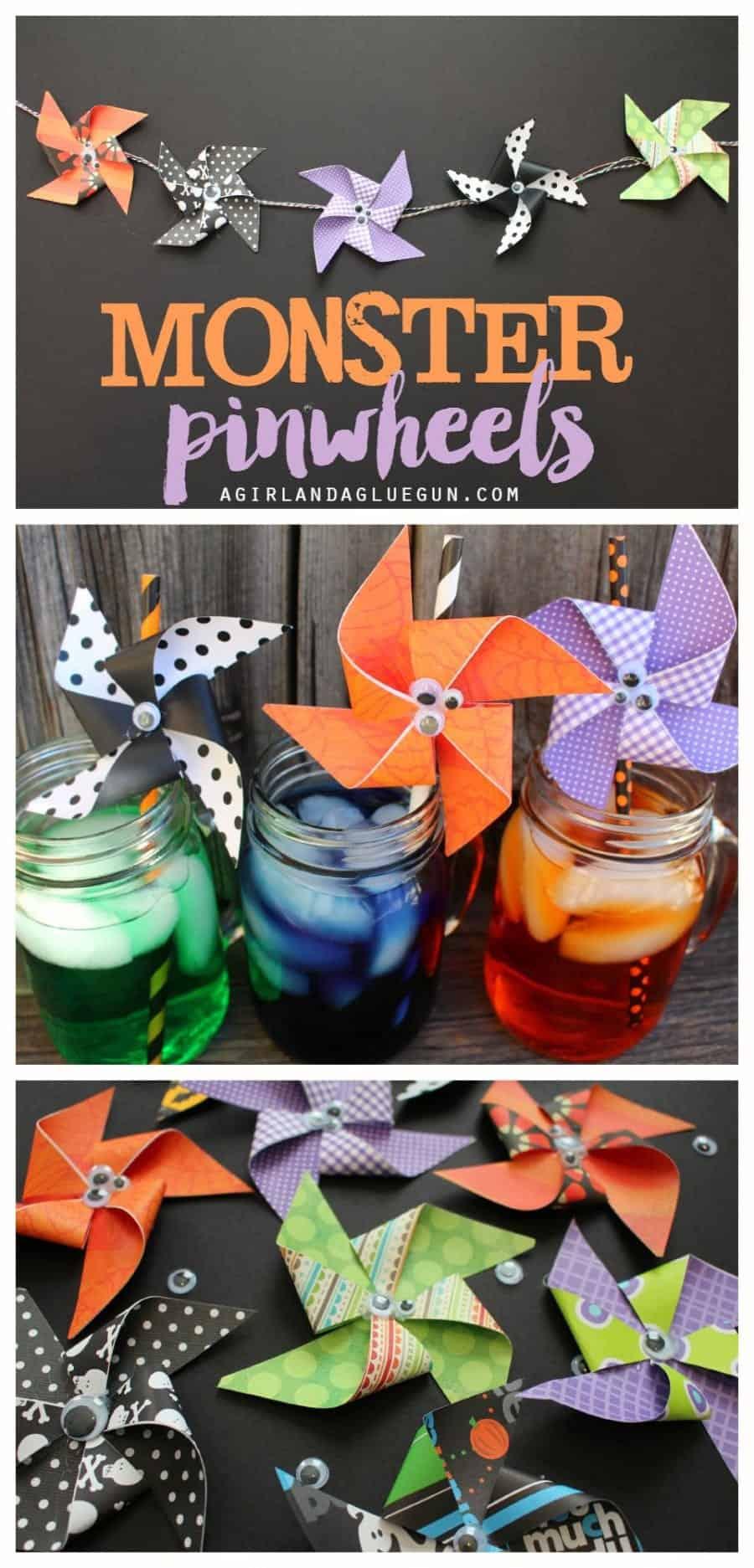 monster pinwheels for halloween