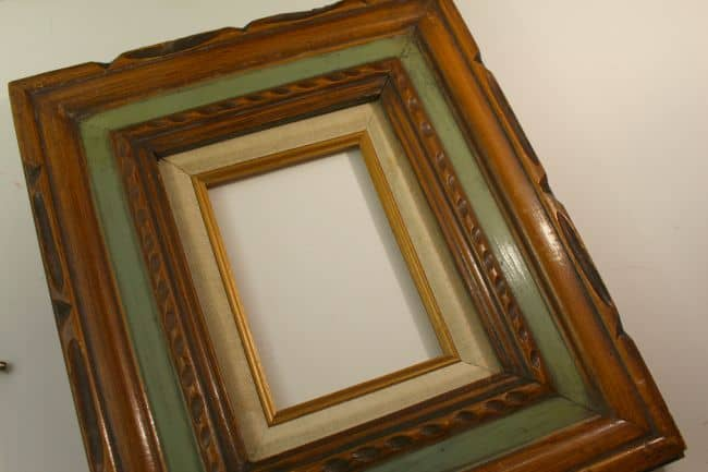 old frame with paint