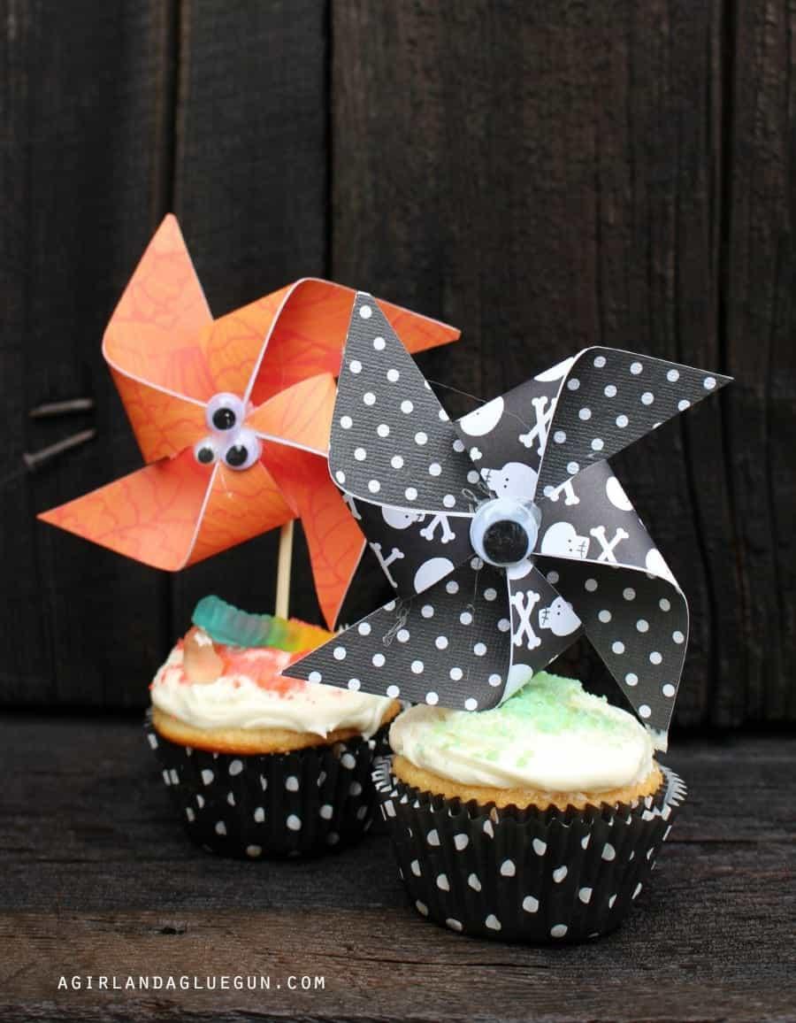 pin wheel cupcakes