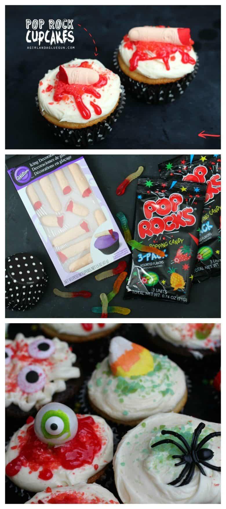 Halloween Pop Rock Cupcakes A Girl And A Glue Gun