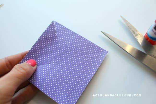 snip corners how to make pinwheels