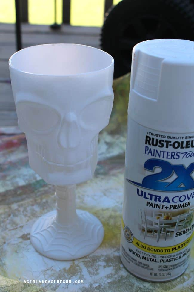 spray painted cup