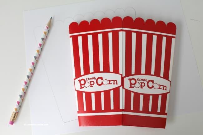 trace popcorn box