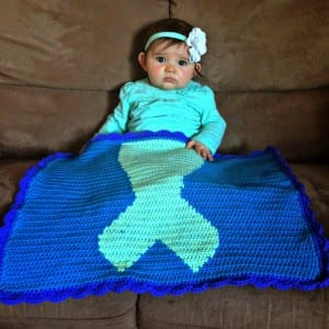 Baby with Mermaid Blanket