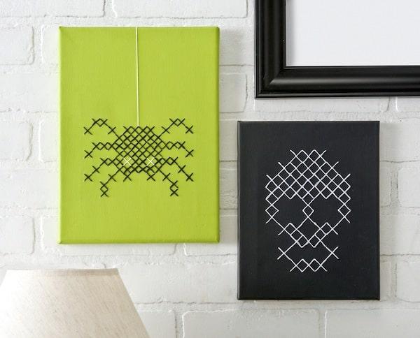 DIY-Halloween-cross-stitch-canvases