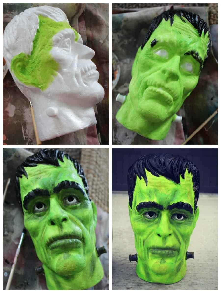 Frankenstein head how to paint