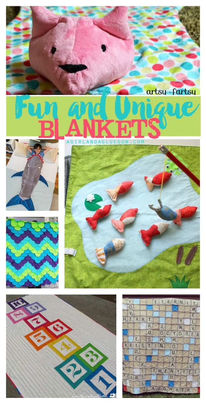 Fun and Unique blanket ideas a girl and a glue gun