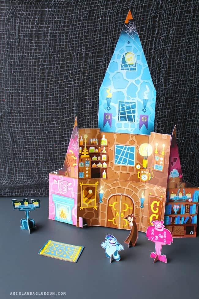 Halloween cardboard castle