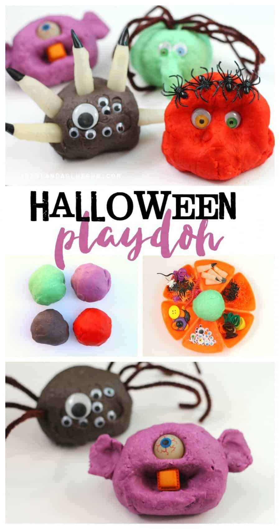 Halloween playdoh for a fun activity at classroom parties