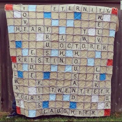 Scrabble quilt