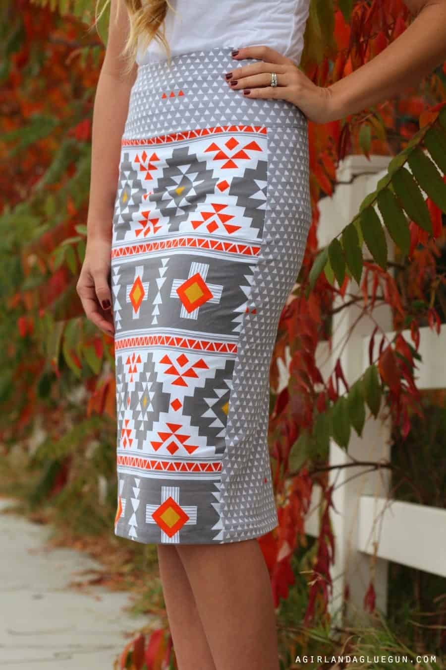 diy pattern mixing double sided skirt
