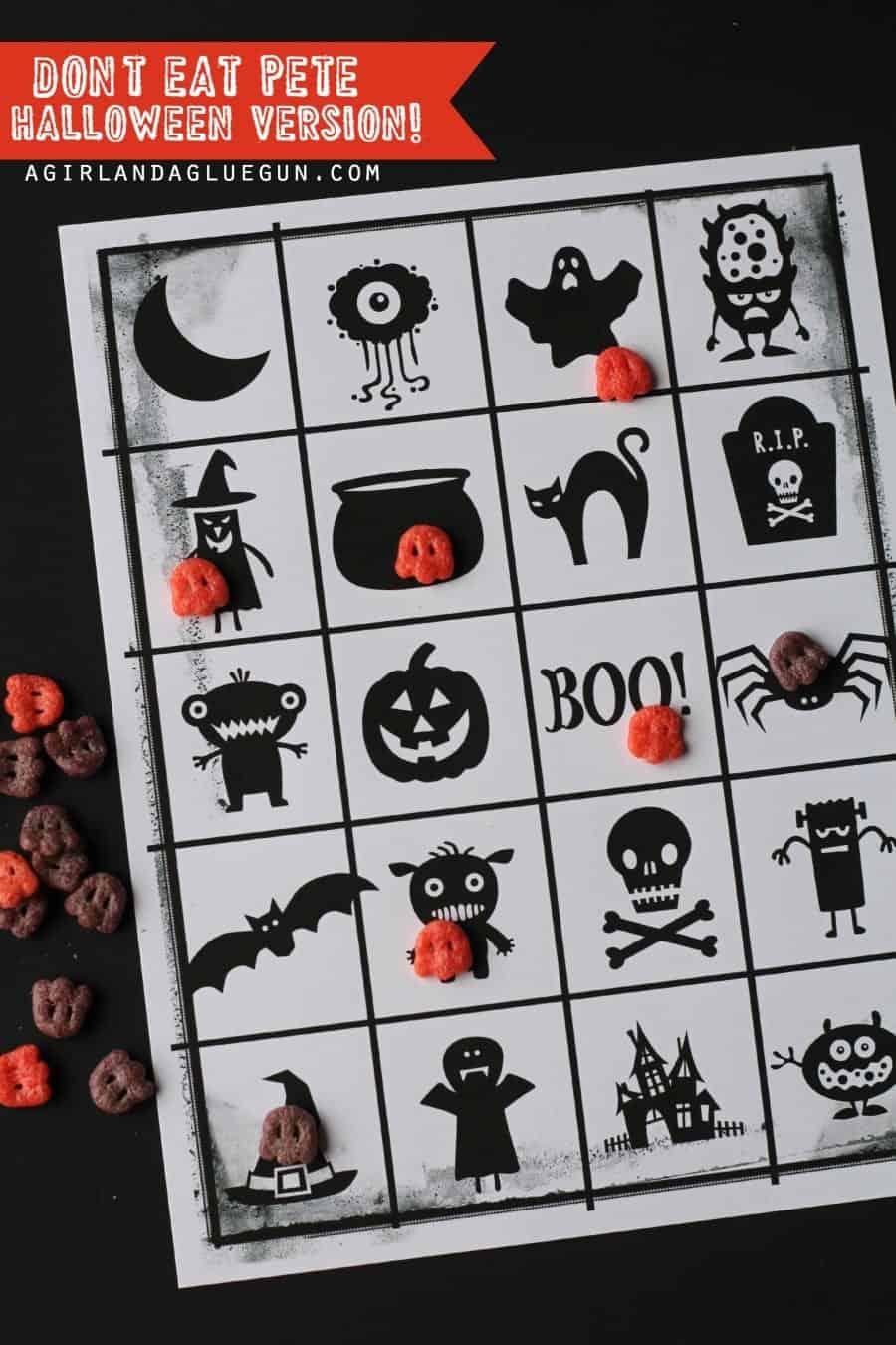 don't eat pete Halloween game free printable