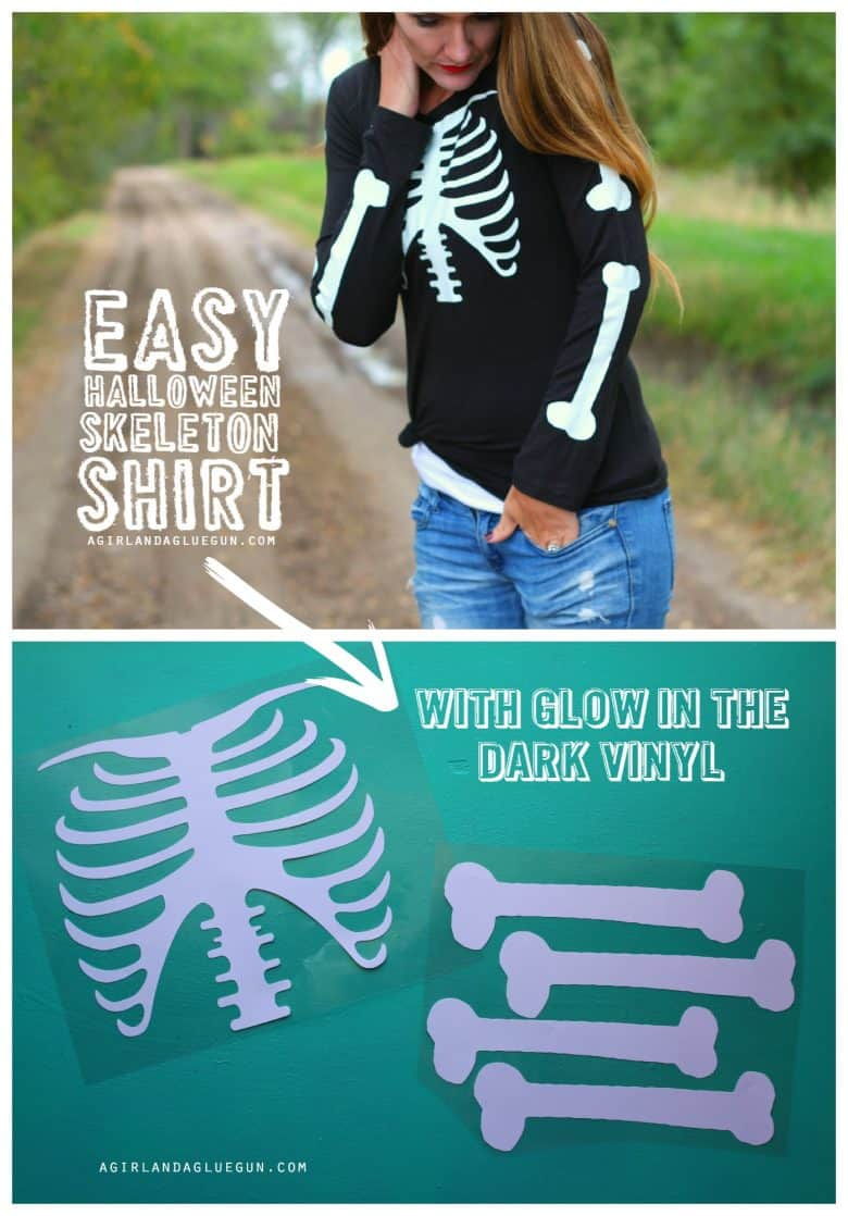 Skeleton Shirt With Glow In The Dark Vinyl And Giveaway