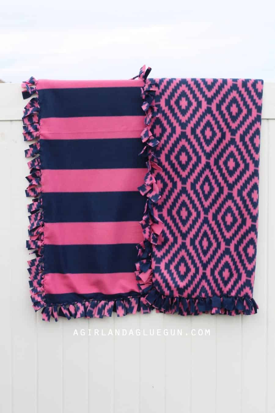 easy no sew fleece blanket