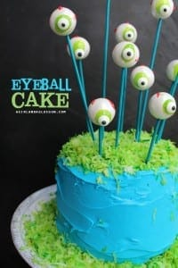 eyeball cake perfect for halloween party! super easy diy