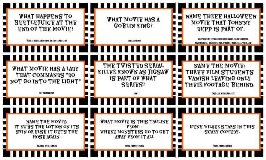 halloween triva for fun party game