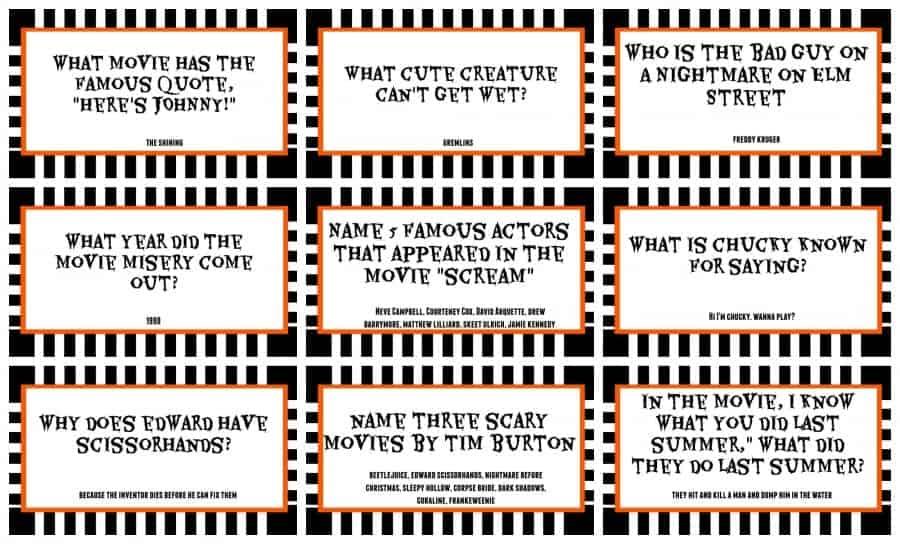 halloween trivia free printables