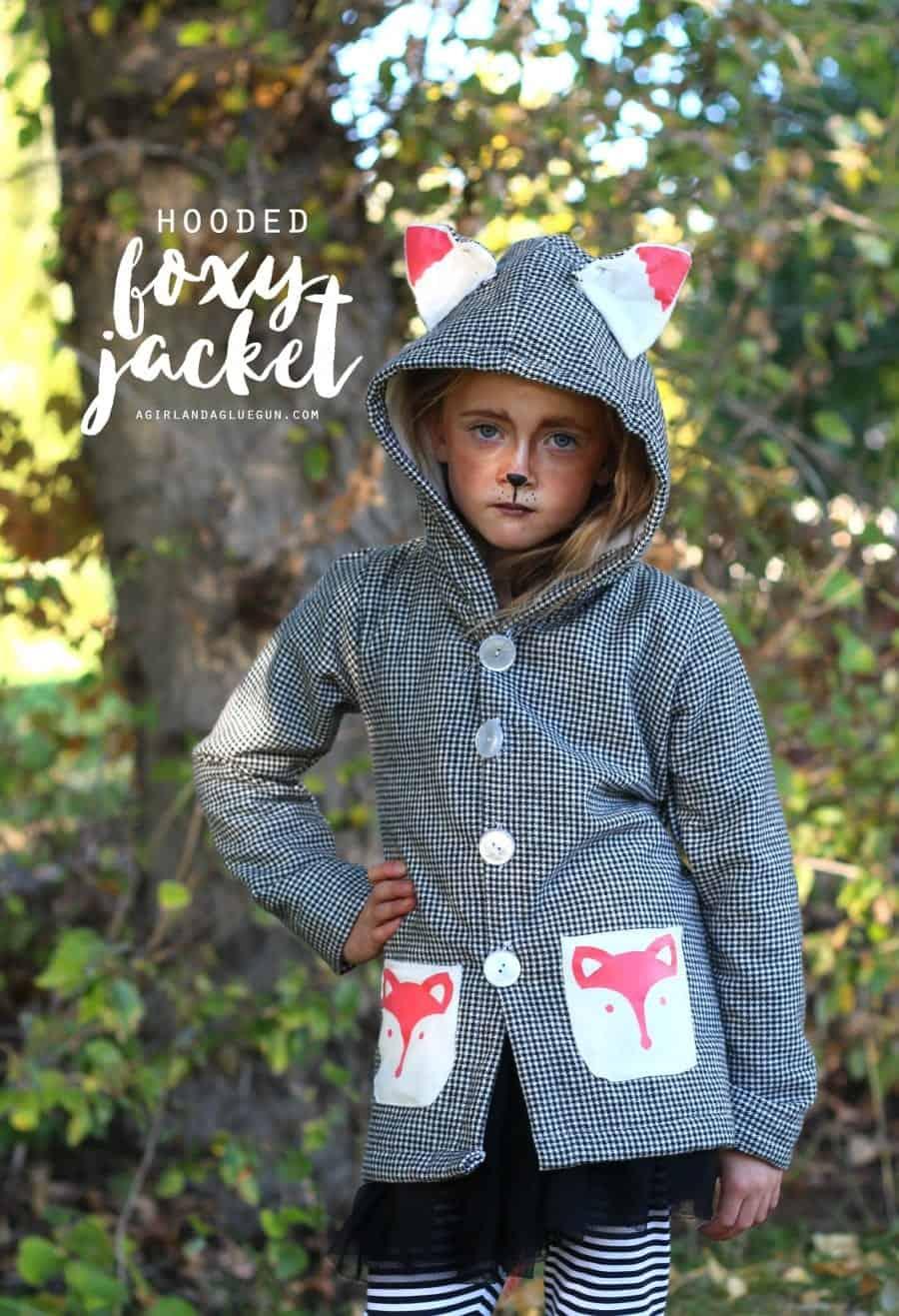 hooded foxy jacket