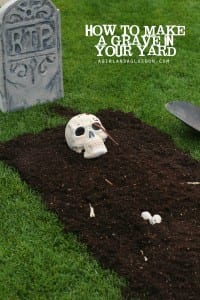 DIY a grave in your yard!