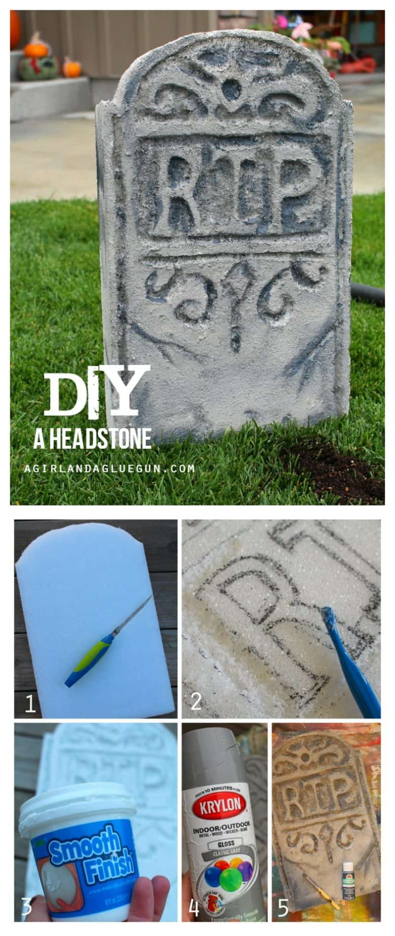 how to make your own headstone for Halloween
