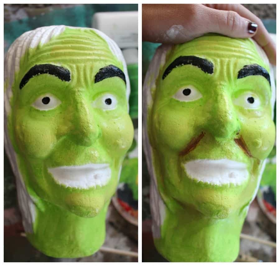how to paint a witch head